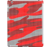 red and gray camo abstract iPad Case/Skin