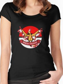 Pokemon Go Team Red Gear Women's Fitted Scoop T-Shirt