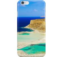 Amazing view over Balos Lagoon and Gramvousa island on Crete, Greece iPhone Case/Skin