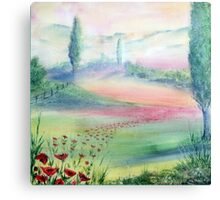 A Walk Through The Poppy Fields Canvas Print