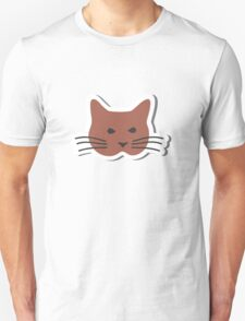Angry Brown Cat  Unisex T-Shirt
