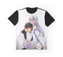 Re:Zero kara Hajimeru Isekai Seikatsu - Emilia & Natsuki Subaru Graphic T-Shirt