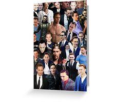 Tom Hiddleston Collage  Greeting Card
