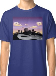 Sunset City and Road Silhouette 2 Classic T-Shirt