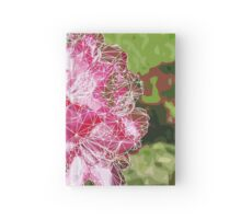 Low Poly Rhododendron Flower Hardcover Journal