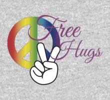 Free Hugs! White and Pink Kids Tee