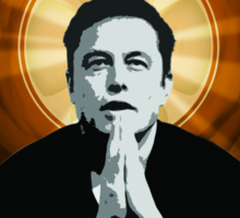 In Elon Musk We Trust Sticker