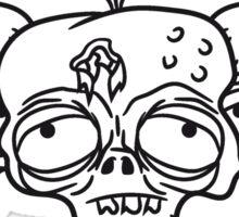 3 freunde team paar party crew traurig müde zombie lustig gesicht kopf untot horror monster halloween  Sticker