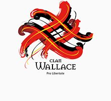 Clan Wallace - Prefer your gift on Black/White tell us at info@tangledtartan.com  Unisex T-Shirt
