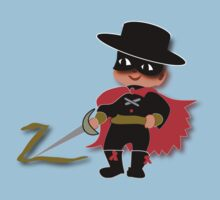 Retro Kid Billy features the legendary Zorro  Kids Tee