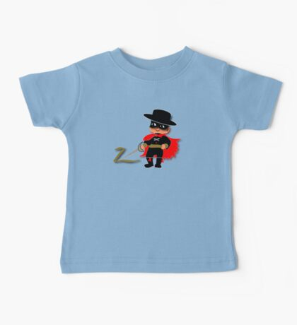 Retro Kid Billy features the legendary Zorro  Baby Tee