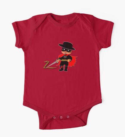 Retro Kid Billy features the legendary Zorro  One Piece - Short Sleeve