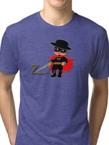 Retro Kid Billy features the legendary Zorro  Tri-blend T-Shirt
