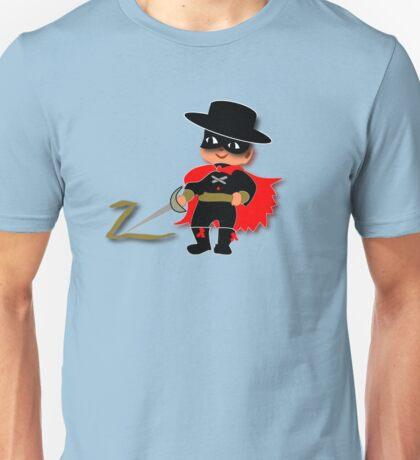 Retro Kid Billy features the legendary Zorro  Unisex T-Shirt