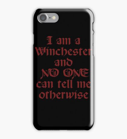 WINCHESTER iPhone Case/Skin