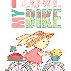 Cute rabbit riding a bike by olarty