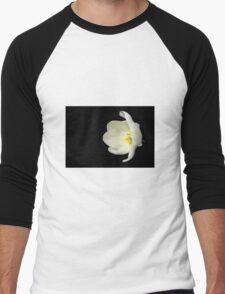 Open White Tulip in Profile Men's Baseball ¾ T-Shirt