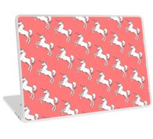 """""""Silver Moon Beam, Shoot Rainbows Out The A**"""" Unicorn Laptop Skin"""