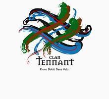 Clan Tennant - Prefer your gift on Black/White tell us at info@tangledtartan.com  Unisex T-Shirt