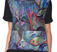 Under the Sea  Chiffon Top
