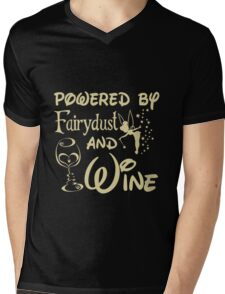 Wine - Powered By Fairydust An Wine Mens V-Neck T-Shirt