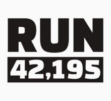 Run 42 kilometer marathon by Designzz