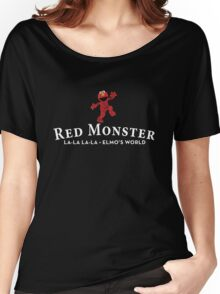 Red Monster Funny T-Shirt / Adult and Kid's Sizes - All Colors Women's Relaxed Fit T-Shirt