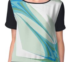 Blue Abstraction Chiffon Top