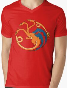 House Charizard Mens V-Neck T-Shirt