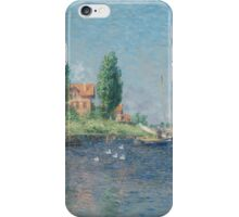 Claude Monet - Red Boats. Argenteuil  iPhone Case/Skin