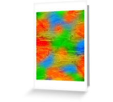 abstract background with colored spots Greeting Card