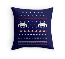 Holiday Invaders Throw Pillow