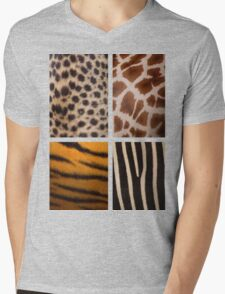 Textures of the Wild Mens V-Neck T-Shirt