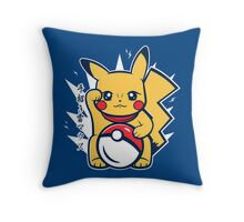Maneki-Pika Throw Pillow