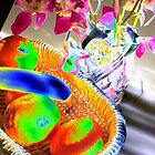 Fruit & flowers - Psychedelic colours by EdsMum