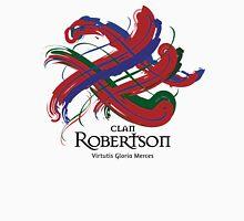 Clan Robertson - Prefer your gift on Black/White tell us at info@tangledtartan.com  Unisex T-Shirt