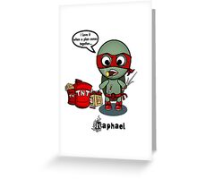 TMNT RAPH Greeting Card