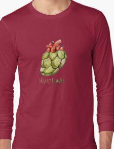 Heartichoke Pun Painting Long Sleeve T-Shirt
