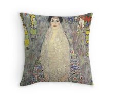 Gustav Klimt  - Portrait of Baroness Elisabeth Bachofen Throw Pillow
