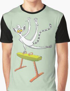 Cool lemur exercising on a pommel horse Graphic T-Shirt
