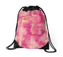 Zenart Pink Drawstring Bag