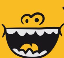 Comic Cartoon Funny laughing smiley face sun Sticker
