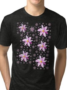 Pink and Yellow Wildflower Tri-blend T-Shirt