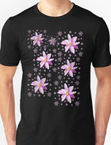 Pink and Yellow Wildflower Unisex T-Shirt