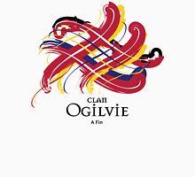 Clan Ogilvie - Prefer your gift on Black/White tell us at info@tangledtartan.com  Unisex T-Shirt