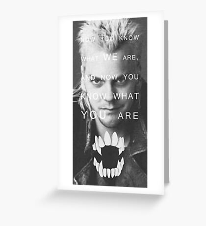The Lost Boys Greeting Card