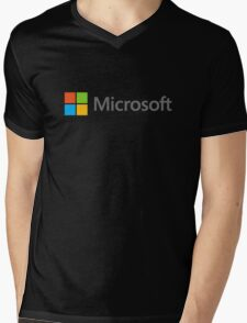 Microsoft logo Mens V-Neck T-Shirt