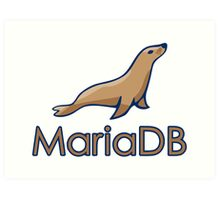 mariadb maria database programming  Art Print