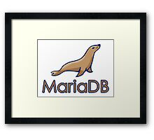 mariadb maria database programming  Framed Print