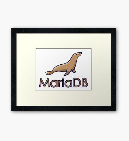 mariadb maria database programming  Framed Print